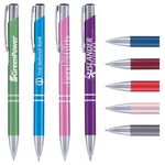 Custom Matte Tres-Chic Pen - Laser Engraved Metal Pen with Polished Chrome Trim