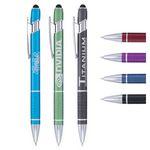 Custom Ellipse Stylus Pen - Laser Engraved Metal Pen