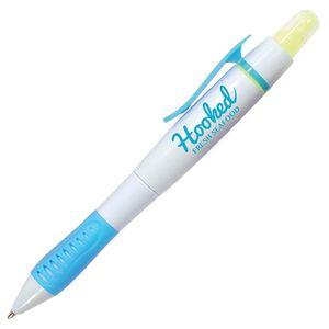 Double Take Pen & Highlighter Combo - White Barrel