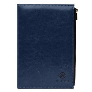 Premium Leatherette Notebook with Zipper Pocket