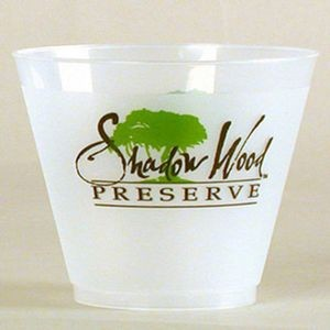 9 Oz. Frost Flex Plastic Squat Cup (Silk Screen Printing)