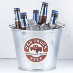 Custom 5 Quart Galvanized Metal Bucket