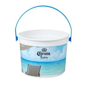 48 oz. Full Color Plastic Drink Pail
