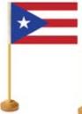 Custom Cotton Muslin Custom Mini Flag