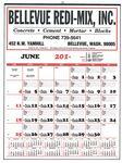 Custom Contractor's 12-Sheet Calendar w/ Job Memo Lines (Thru 4/30)