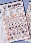 Custom Almanac Calendar w/ Historical Weather Chart (Thru 4/30)