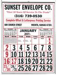 Custom Commercial 12-Sheet Calendar w/ Large Numbers-19