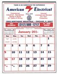Custom Commercial 12 Sheet Easy-To-Read Calendar-19