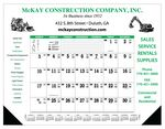 Custom Contractor's 12-Sheet Desk Pad Calendar (After 5/1)
