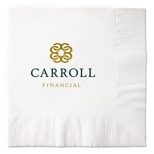 White 2-Ply Coin Edge Embossed Beverage Napkin (Petite Line)