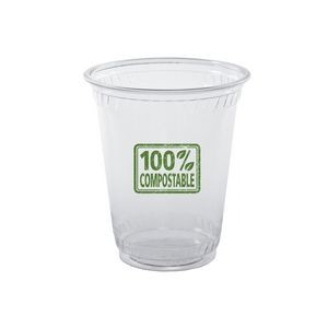 10 Oz. Soft-Sided Greenware Plastic Cup (Grande Line)