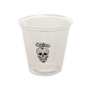 3.5 Oz. Transparent Hard-Sided Plastic Sample Cup (Petite Line)