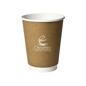 12 Oz. Kraft Double Wall Insulated Paper Cup (Petite Line)