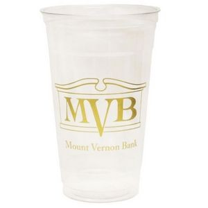 24 Oz. Soft-Sided Clear Plastic Cup (Petite Line)
