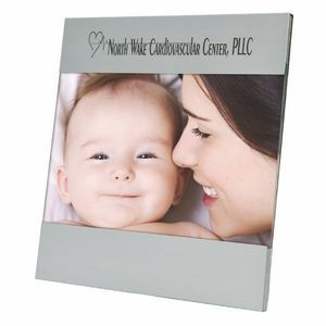 "Photo Frame - Brushed Aluminum Picture Frame for 4"" x 6"" photo or insert"