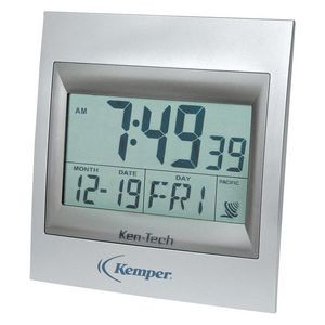 Clock - Square Atomic LCD Wall Clock