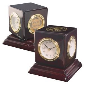 Clock - Revolving Multi-Function weather station Desk Clock with photo frame