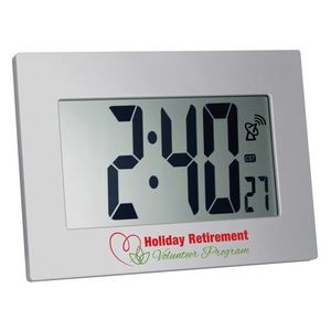 Radio Controlled Atomic LCD Wall or Desk Clock