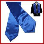 Custom Blank Blue Graduation Stole