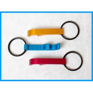 Metallic Bottle Opener Keychains