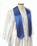 Custom Extra Long Royal Blue Graduation Sash - 5