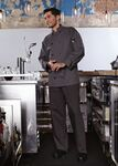 Custom Slate Full Sleeve Dyed Button Chef Coat