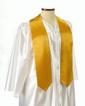 Custom Gold Graduation Sash - 5