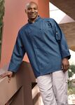 Custom Cotton Chambray Full Sleeve Cloth Button Executive Chef Coat