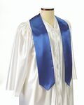 Custom Royal Blue Graduation Sash - 5
