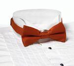 Custom Orange Banded Bow Tie