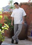 Custom Houndstooth Executive Chef Pants with 1 1/2