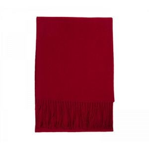 Red Cashmere Merino Wool Blend Scarf