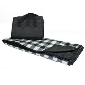 Explorer Picnic Blanket - Black and White Buffalo Plaid