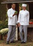 Custom White Full Sleeve Pearl Button Chef Coat