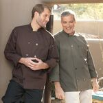 Custom Brown Full Sleeve Dyed Button Chef Coat