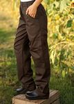 Custom Brown Grunge Cargo Chef Pants with 2