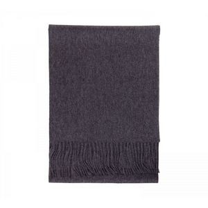 Charcoal Grey Merino Cashmere Wool Scarf