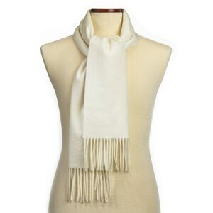 Ivory Cashmere Blend Muffler Scarf