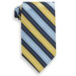 Custom Mansfield Yellow and Blue Stripe Tie