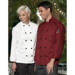 Custom White Full Sleeve Black Button Chef Coat