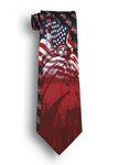 Custom Liberty & Justice Patriotic Novelty Tie