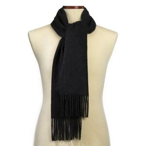 Charcoal Gray Cashmere Blend Winter Scarf