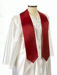 Custom Extra Long Red Graduation Sash - 5