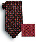 Custom Full House Black Novelty Tie