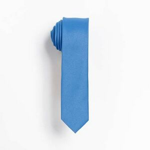 French Blue Skinny Tie