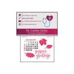 Custom Magna-Stick Press-N-Stick Business Card Calendar