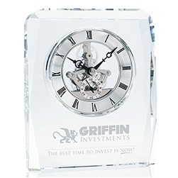 Jaffa® Crystal Skeleton Clock