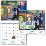 Custom GoodValue Monkey Mischief Calendar (Spiral)