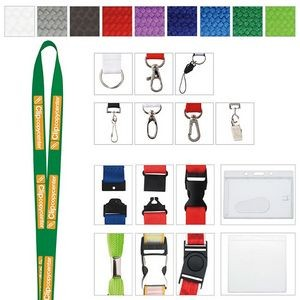 "3/8"" Universal Source™ Polyester Woven Lanyard"