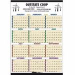 Custom Triumph Time Management Span-A-Year Laminated Calendar w/ Marker